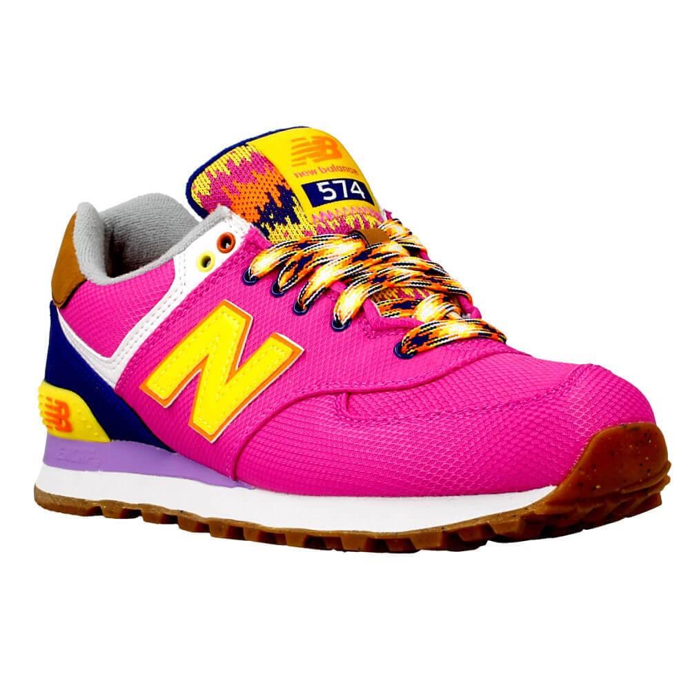 New Balance WL574 WL574EXB rosa scarpe basse