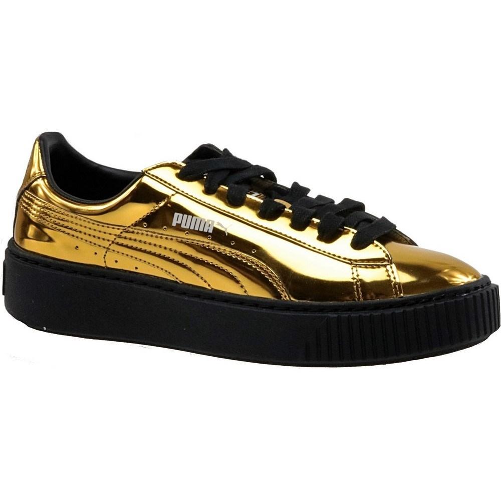 Puma Basket Platform Metallic 36233904 oro sneakers alte