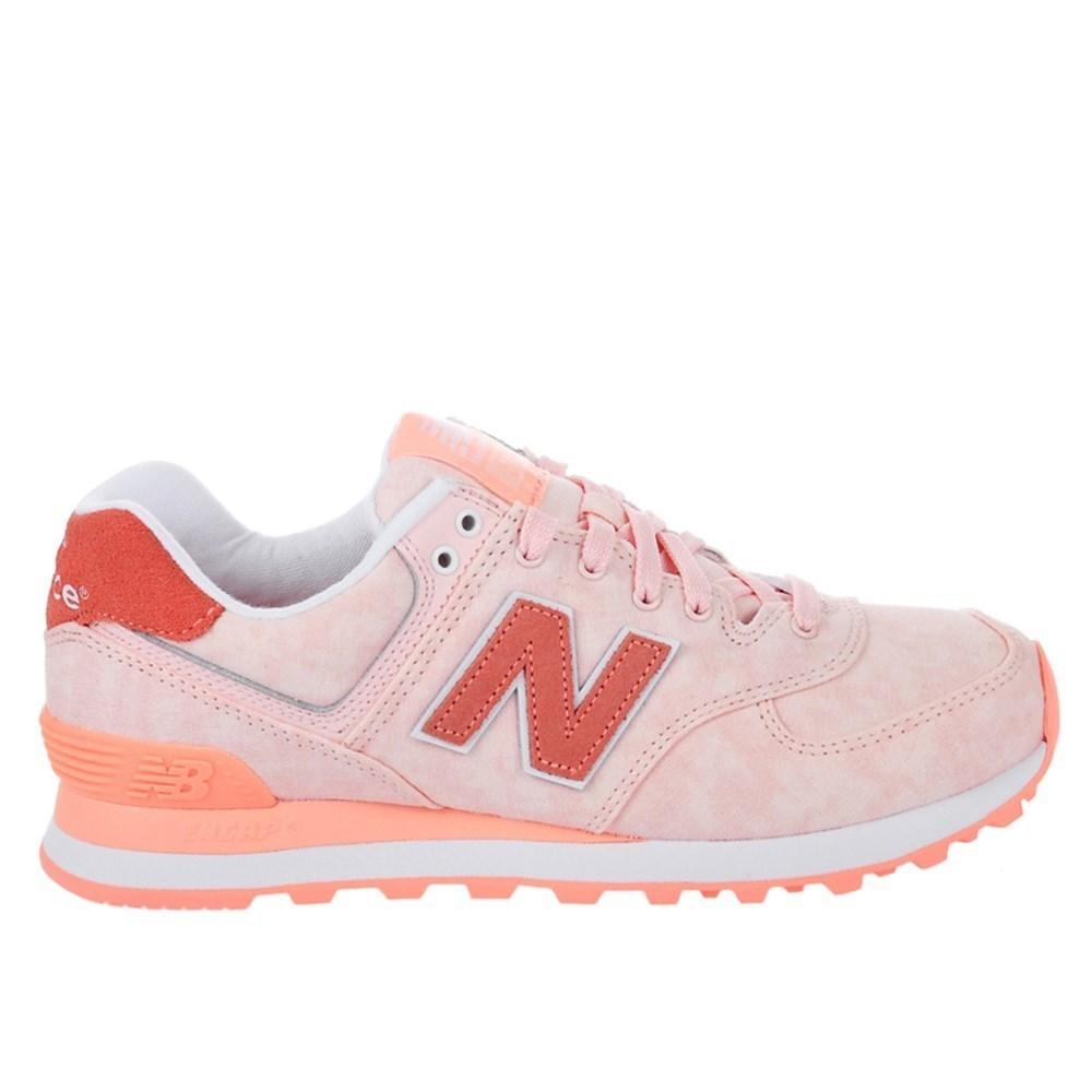 New Balance WL574SWA WL574SWA bianco scarpe basse