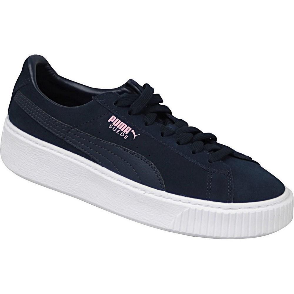 Puma Suede Platform JR 36366303 blu marino sneakers alte