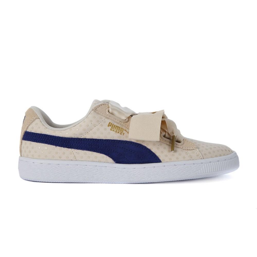 Puma Basket Heart Denim 36337103 beige scarpe basse