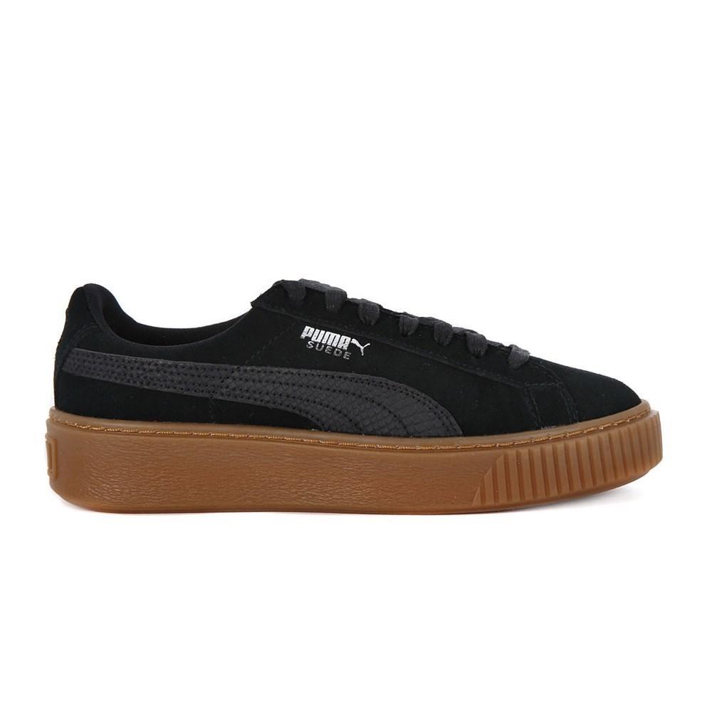 Puma Suede Platform Animal 36510901 nero scarpe basse
