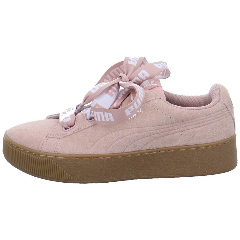 Puma Vikky Platform Ribbon 3653140002 rosa lunghezza caviglia
