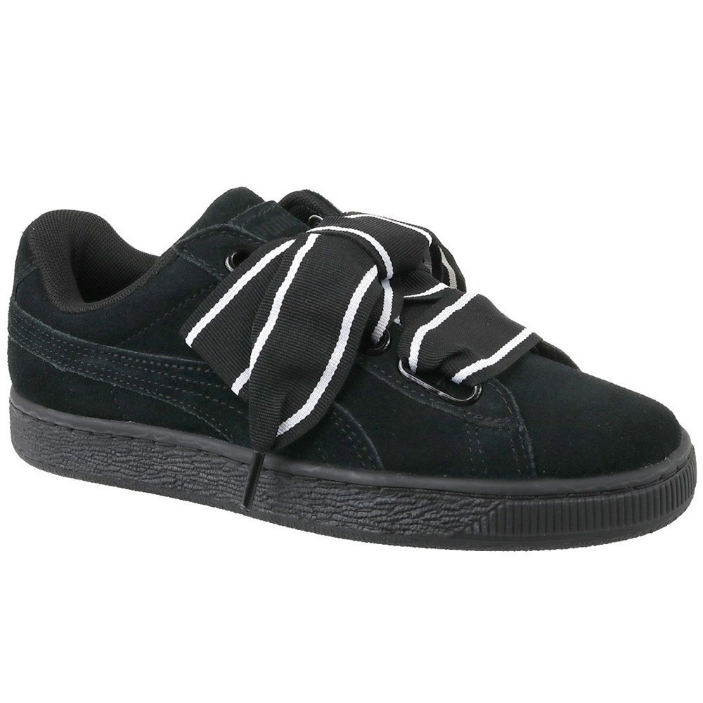 Puma Suede Heart Satin II 36408401 nero scarpe basse
