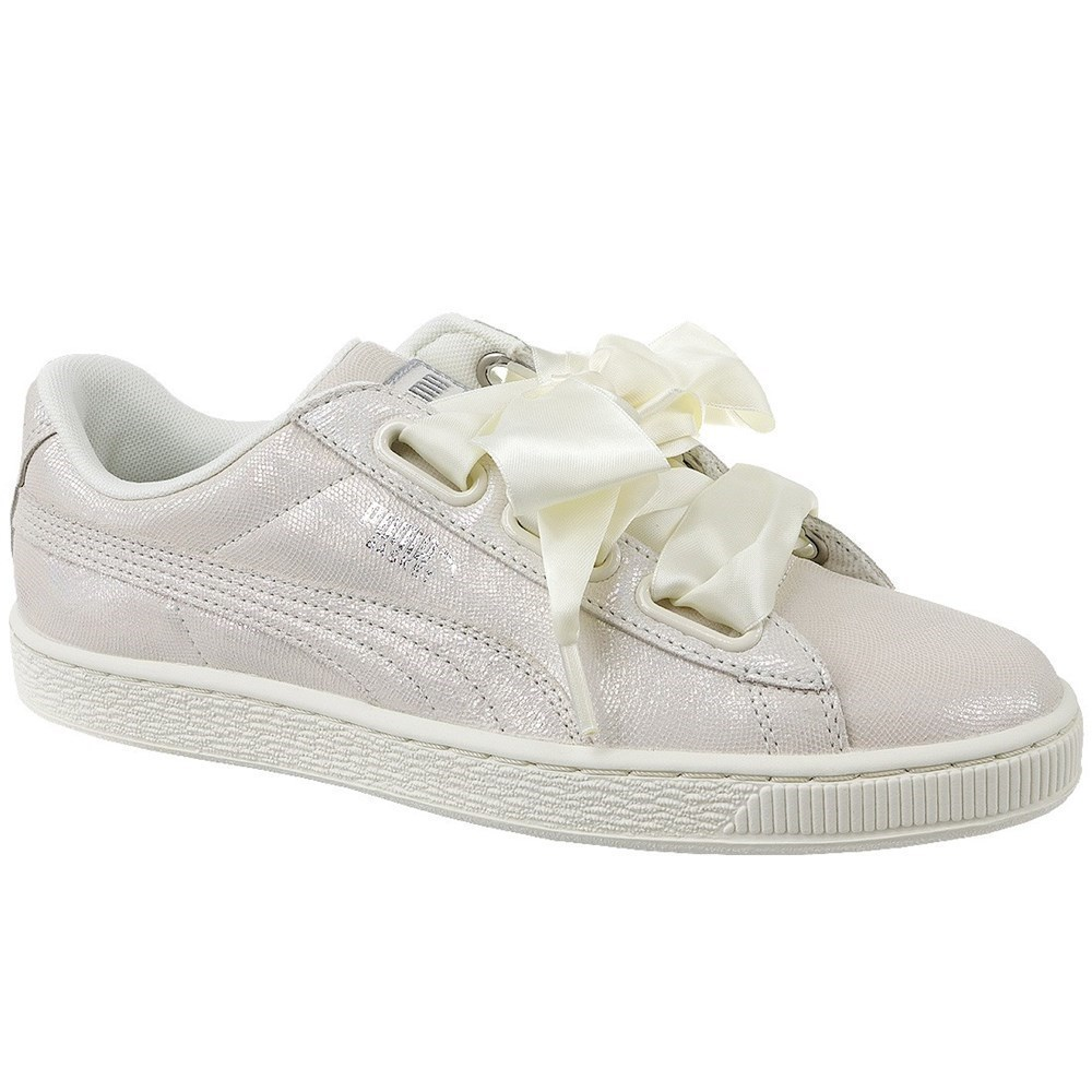 Puma Basket Heart Night Sky 36410802 beige scarpe basse