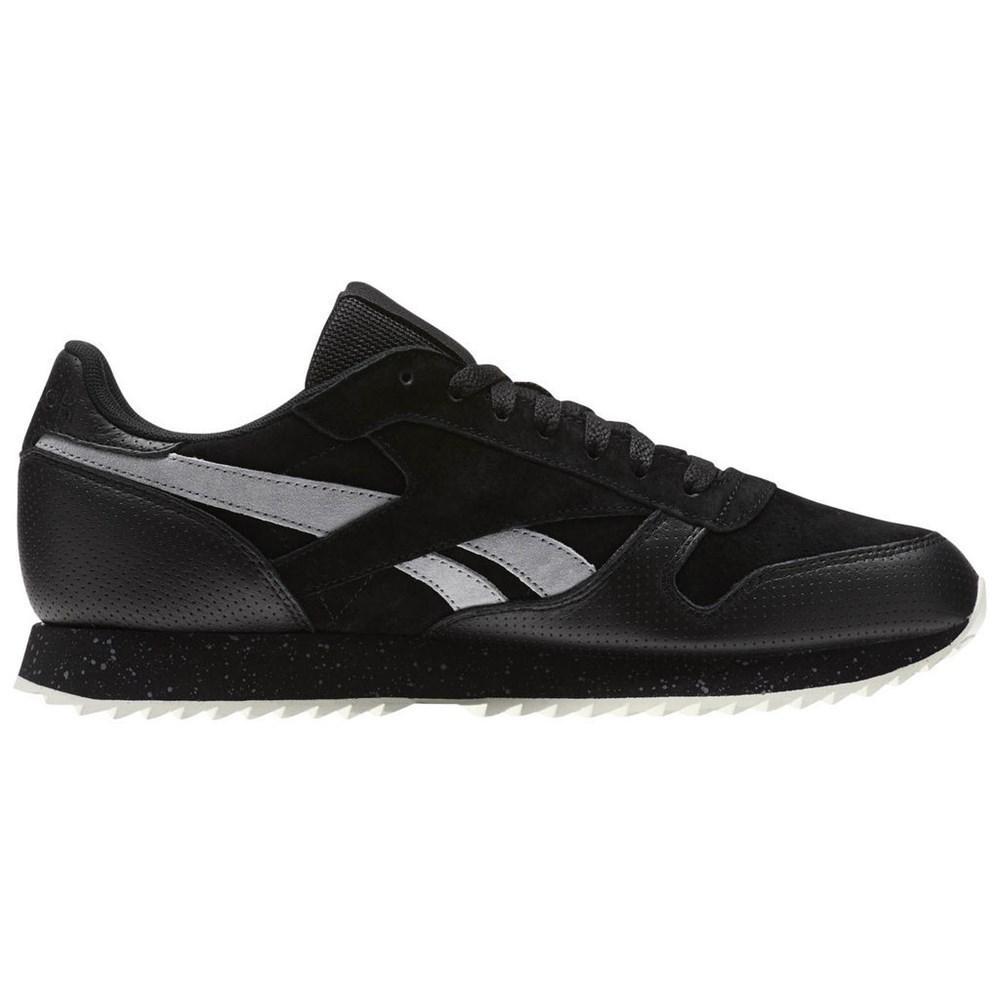 Details zu Reebok Classic Leather Ripple SM BS9726 black halfshoes