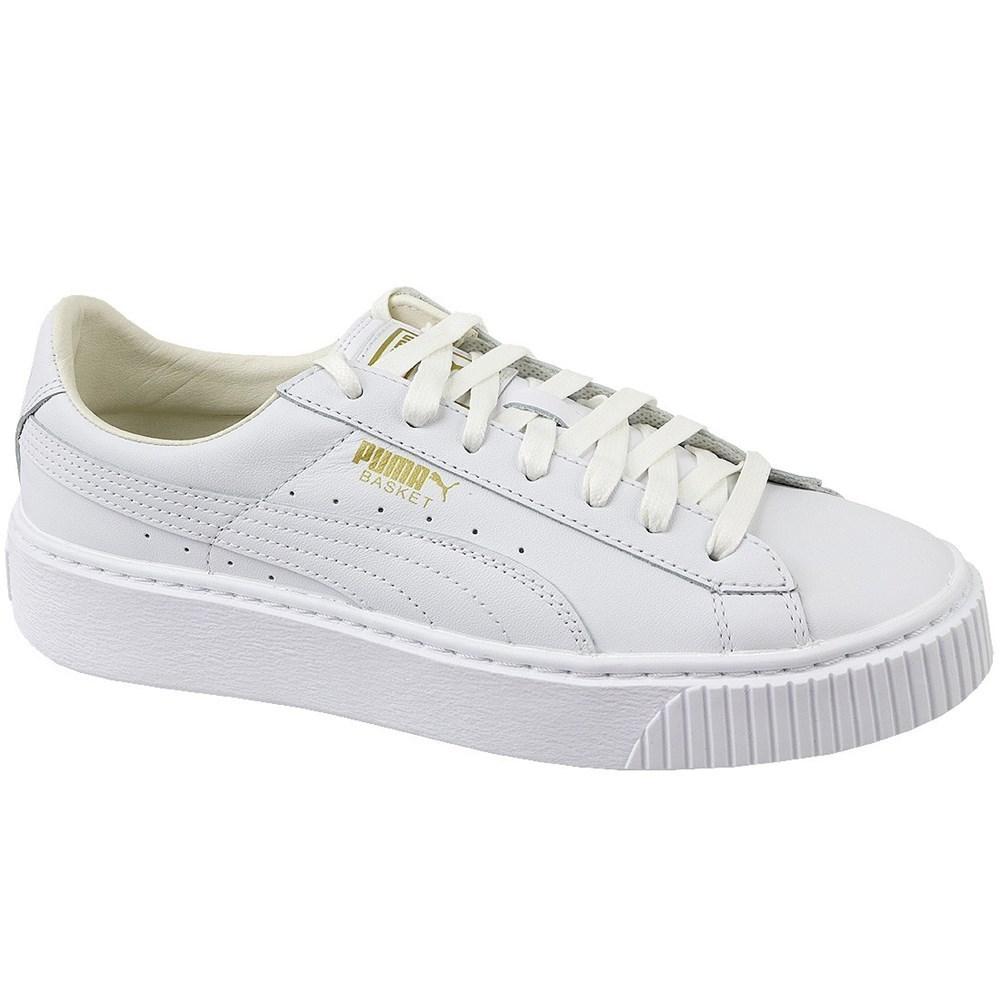 Puma Basket Platform Core 36404004 bianco scarpe basse