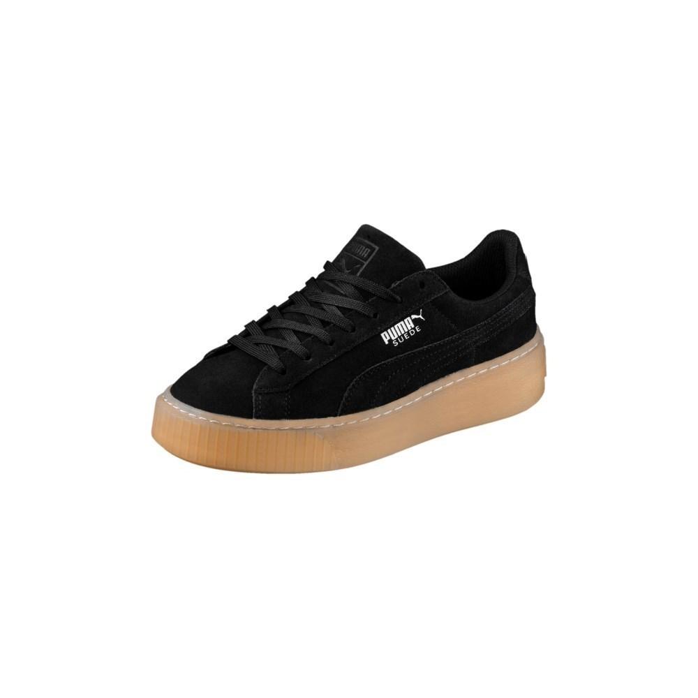 Puma Suede Platform 36513103 marrone scarpe basse