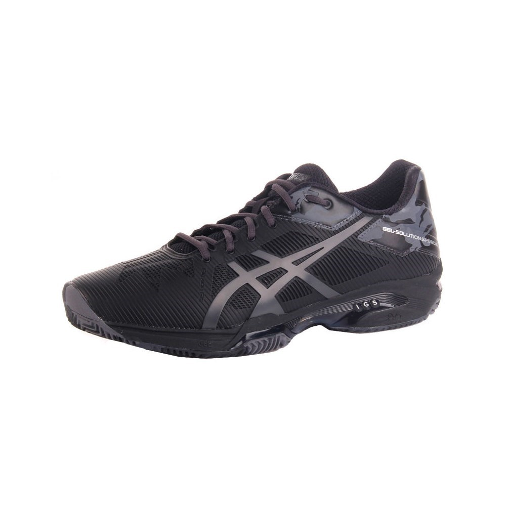Asics Gel Solution Speed 3 Clay E804N9095 nero scarpe basse