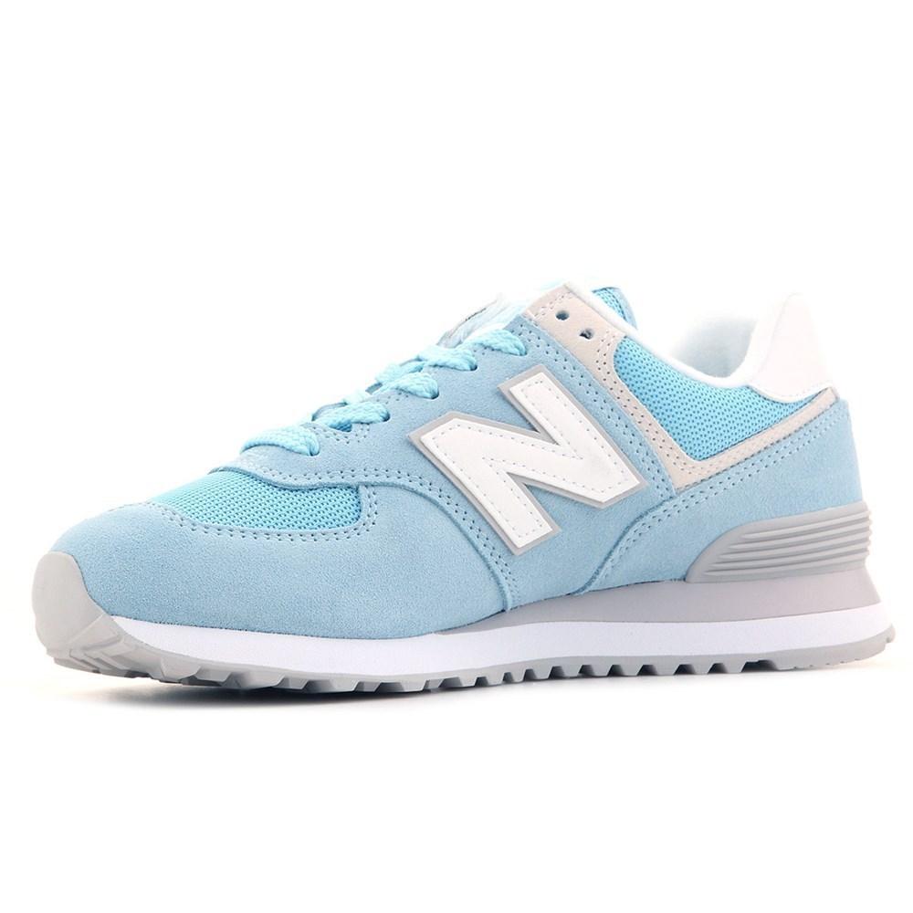 New Balance WL574ESB WL574ESB azzuro scarpe basse
