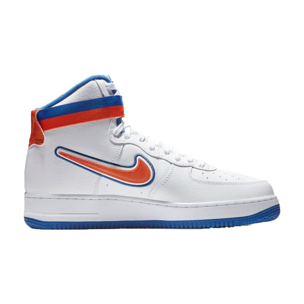 official photos 5773f 19fc6 Details about Nike Air Force 1 High 07 LV8 Sport Nba New York Knicks  AV3938100 blue halfshoes