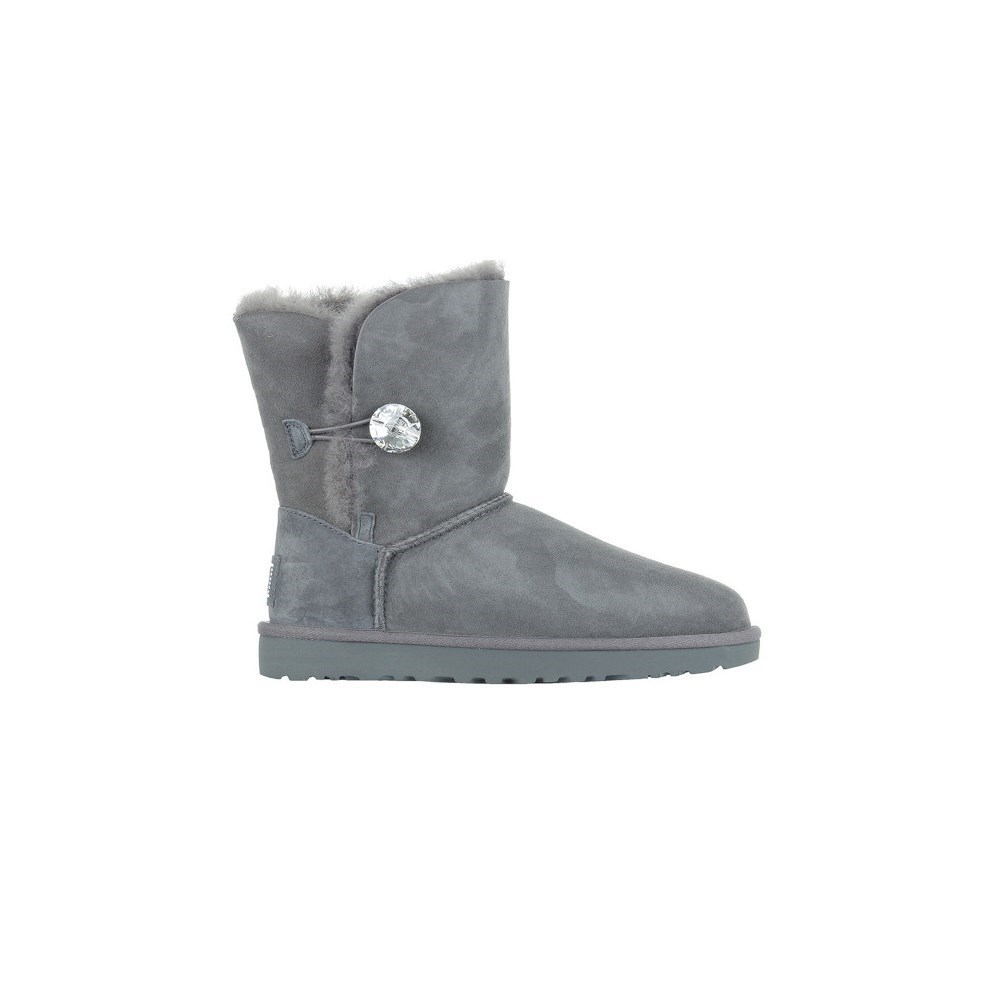 Details about UGG W Bailey Button Bling 1016553GREY grey snow boots