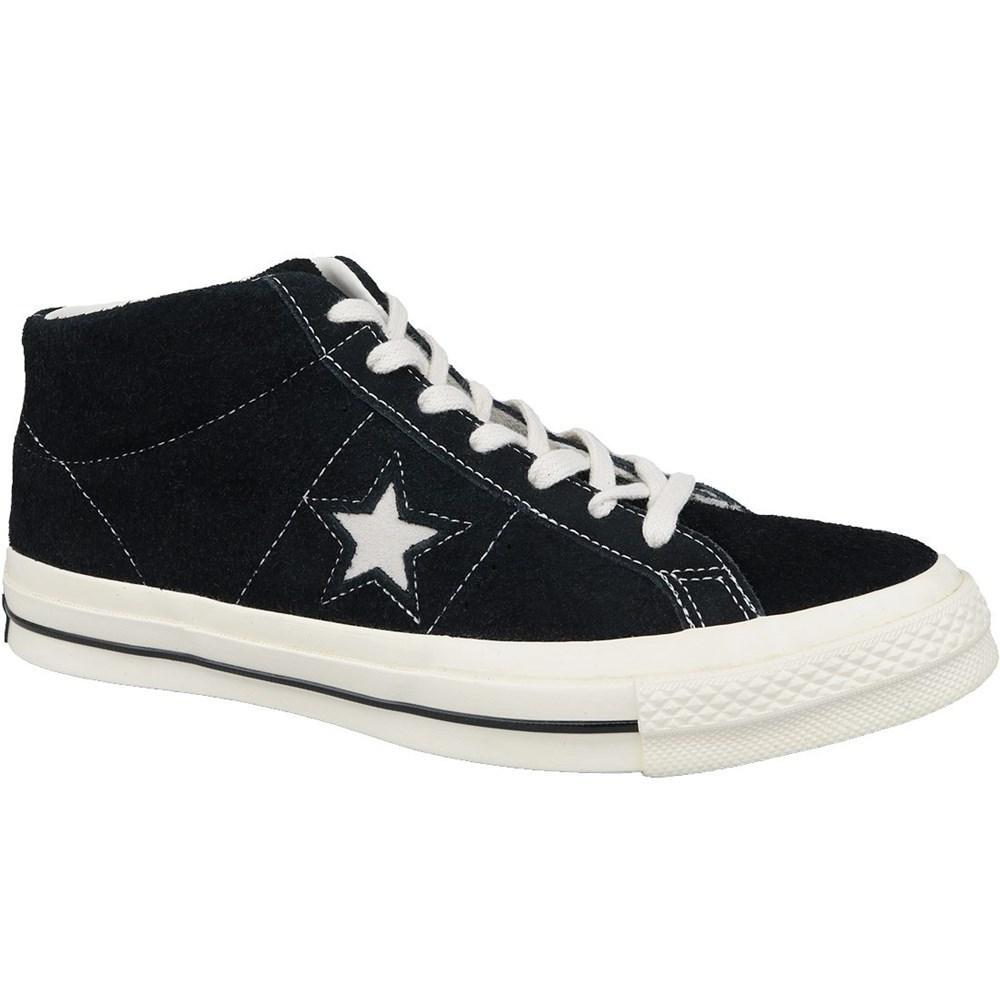 Details zu Converse One Star OX Mid Vintage Suede 157701C schwarz sportschuhe