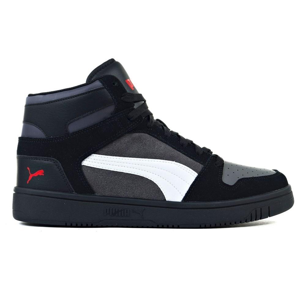Universal Shoes Man Puma Rebound Layup SD 37021902 Black, Gray | eBay